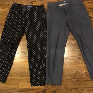 Old Navy Harper Pants Mid-Rise Cropped Ankle